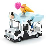 Oddbods Action Vehicle - Pogo's Ice Cream Truck - Push Powered Toy Car for Kids with Rotating Mini Ice Cream Launcher & Functioning Hatch, Comes with Truck & Pogo Action Figurine, Ages 3+