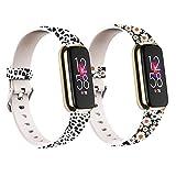 Chofit - Cinturino di ricambio per Fitbit Luxe, in morbido silicone, con motivo floreale, taglia S/L