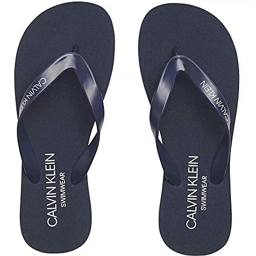 Calvin Klein Chancletas Zapatillas Unisex Swimwear CK artículo KM0KM00497 FF Sandals, CBK Black Iris, Piede 39/40