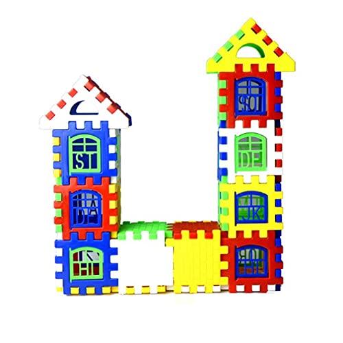 POO 24pcs Bloques de construcción de bloques de casa juguete para niños juguete educativo multicolor