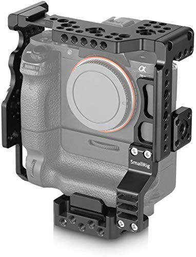 SMALLRIG Cage for Sony A7II/A7SII/A7RII Camera with Battery Grip (Sony VGC2EM/Sony VELLO BG-S3) – 2031