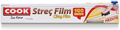Cook Streç Film Kayar Bıçak Hediyeli 30 cm x 100 m