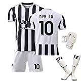 GYLMXF 21-22 Nuevo Traje de Camiseta de Local de la Camiseta n. ° 10 de Dybala con Calcetines