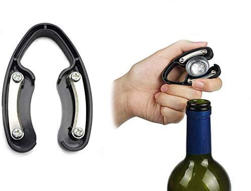 Weinfolienschneider, Folie mit Ledergriff, für Weinflaschen, entfernt mühelos Folienoberteil – Geschenkbox-Paket für Weinliebhaber