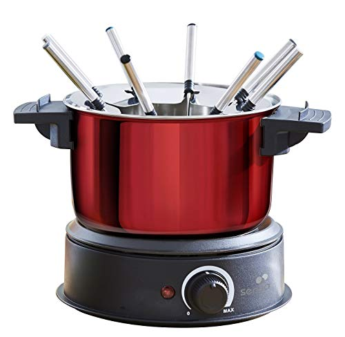 Senya SYCK-F001 Macchina per Fonduta Elettrica, 1500 W, 1.4 Litri, Stainless Steel