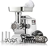 The Heavy-Duty STX Megaforce Classic 3000 Series Air Cooled Electric Meat Grinder Sausage Stuffer: 4...