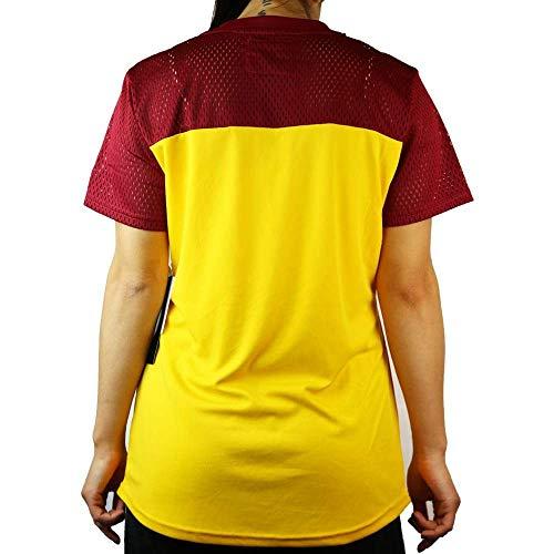 G-III Sports Washington Redskins Women's Shake Down Short Sleeve V-Neck Lace T-Shirt Small