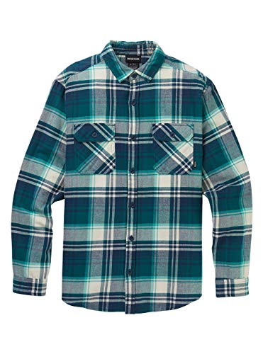 Burton Brighton, Camicia in Flanella Uomo, Dress Blue Stump Plaid, M