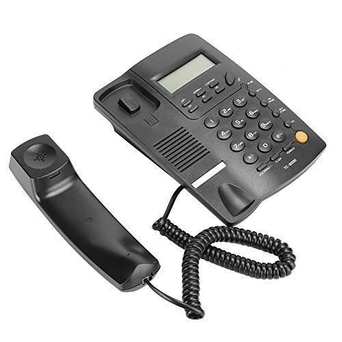 Teléfono residencial Fijo, identificador de Llamadas de teléfono Fijo Manos Libres, 38 Grupos de Almacenamiento de Llamadas, función de rellamada y devolución de Llamada, teléfono Fijo de Oficina