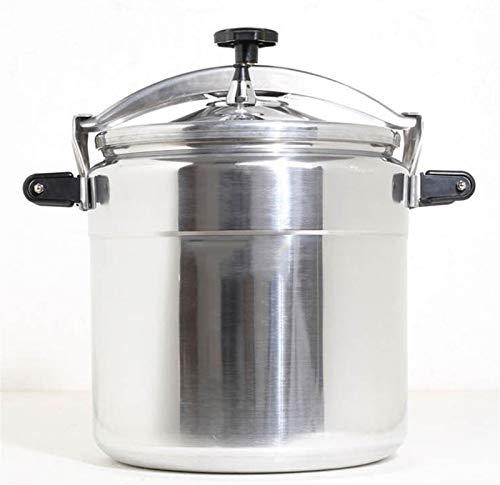 Cocina de presión comercial, olla de cocina de cocina rápida para el hogar, adecuado para una cantina, hotel, escuela 15L-50L (Color : Silver, Size : 20L)
