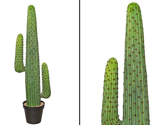 Mexikanischer Kaktus künstlich, grün mit Topf, Höhe 127cm - künstlicher Kaktus Kakteen Kunstkaktus
