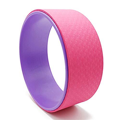 DC CLOUD Rueda Yoga Yoga Circle Ejercicios de Pilates DE LA Rueda Rueda de Yoga para Estiramiento Rueda de Apoyo para Yoga Poses Purple-Pink,-