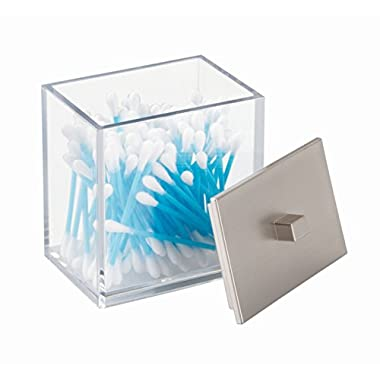 InterDesign Clarity Canister for Cotton Balls; cotton Swabs; Bath Salts (41480)