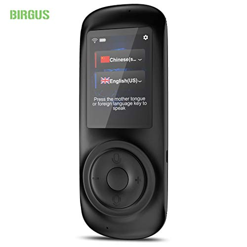 Birgus Voice Translator Device Smart Language Interpreters Device with 2.4inch Capacitive Touch...