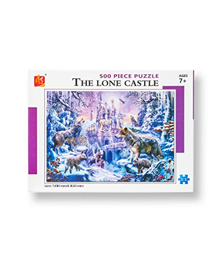 The Lone Castle Wolf Jigsaw Puzzles 500 Piece