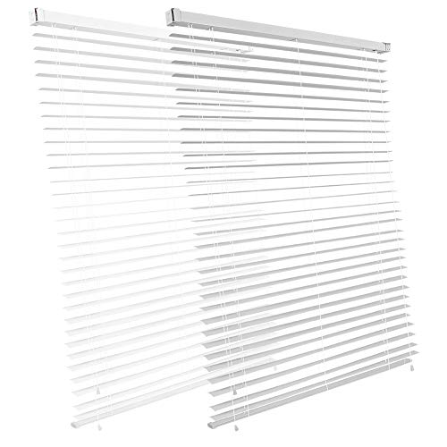 Estink - Persiana de aluminio, persiana opaca, protección visual, de luz y antideslumbramiento, todas las piezas de montaje incluidas, 120 x 150 cm (ancho x alto)