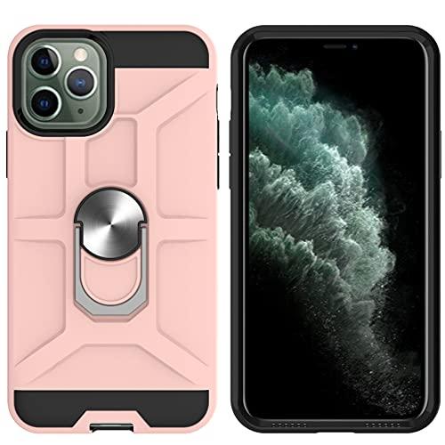 VQWQ Funda para iPhone 11 Pro 5.8' - con Soporte de Metal Anillo de 360° Resistente a los Impactos Funda Magnético Car Mount Funda Pare iPhone 11 Pro 5.8' [Mars] -Oro Rosa