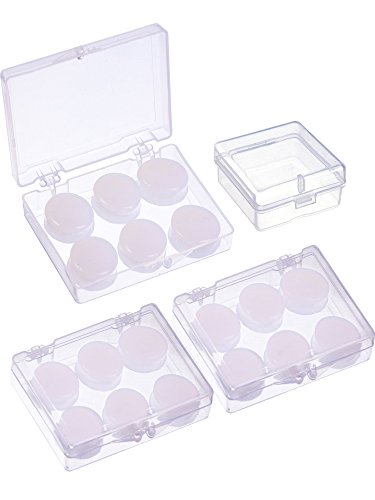 9 Paar Weiche Schutz Ohrstöpsel Silikon Kitt Ohrstöpsel Formbare Ohrstöpsel Set zum Schlafen, Schwimmen (Weiß)