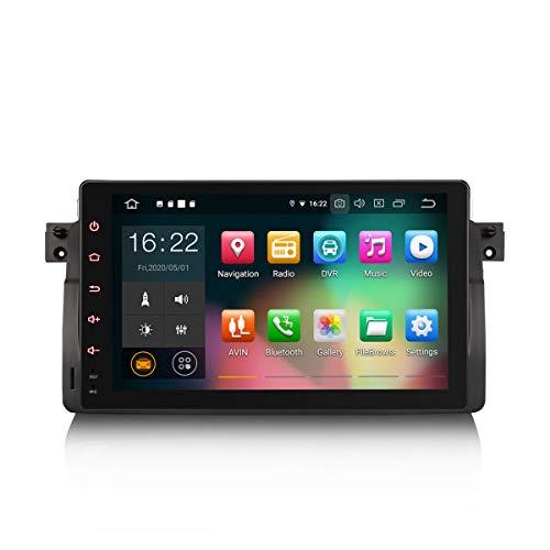 ERISIN 9 Zoll Android 10.0 Autoradio für BMW 3er E46 M3 Rover 75 MG ZT Unterstützt GPS-Navi Carplay Android Auto DSP Bluetooth A2DP DVB-T/T2 WiFi DAB+ 8-Kern 4GB RAM+64GB ROM