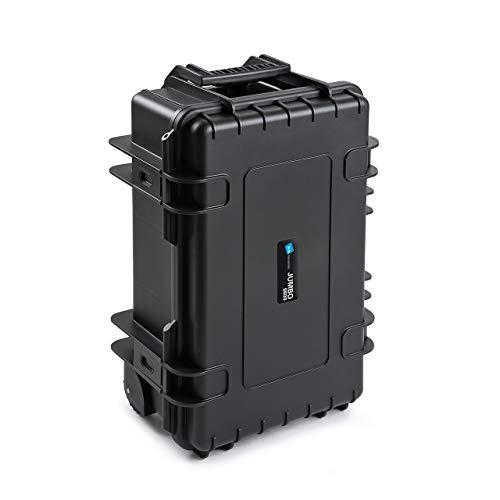 B&W Werkzeugkoffer JUMBO 6600 mobil mit Werkzeugeinsteckfächern (Koffer aus PP, Volumen 26,4l, 50 x 28,5 x 18,5 cm innen) 117.20/P, ohne Werkzeug
