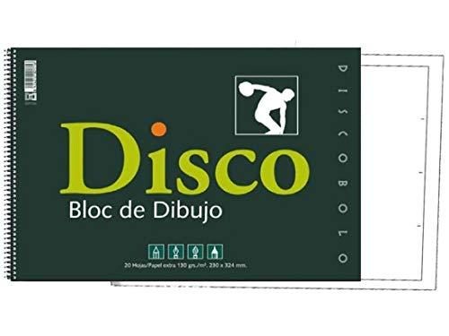 Starplast Bloc de dibujo, 20 hojas con recuadro, A4 para bocetos, pintar, otros dibujos, etc. Hojas blancas