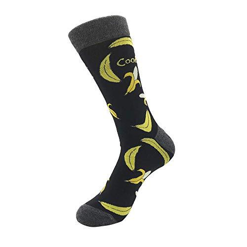 Bayliney 1 Paar Unisex BeiläUfig Baumwolle Socken Mode Herren Frau Taro Banane Raumschiff Muster Atmungsaktiv StrüMpfe Schlafen Sportlich Süß Karikatur Neuheit Komisch Tier Crew MäNner (C)