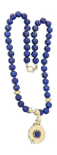 Hobra-Gold lapis lazuli ketting goud 585 hanger 14 karaat met briljante lapis ketting collier