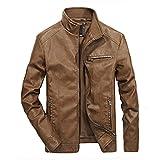 ZLDGYG Chaquetas de piel para hombre, para motocicleta, para hombre, estilo calle, para bombardero, color D, tamaño: 5 x l)