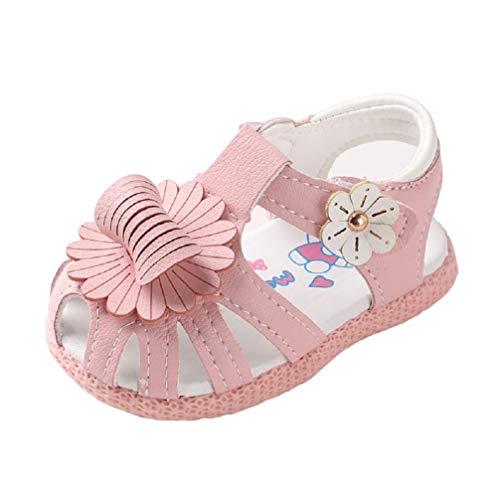 Auxma Chaussures d'été bébé Fille Sandales pour Les 0-2 Ans (19 EU, Rose)