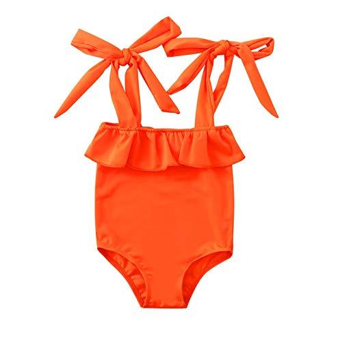 Julhold Bebé niña traje de baño mamelucos traje de baño de una pieza conjunto de bikini con cordones de verano traje de baño ropa