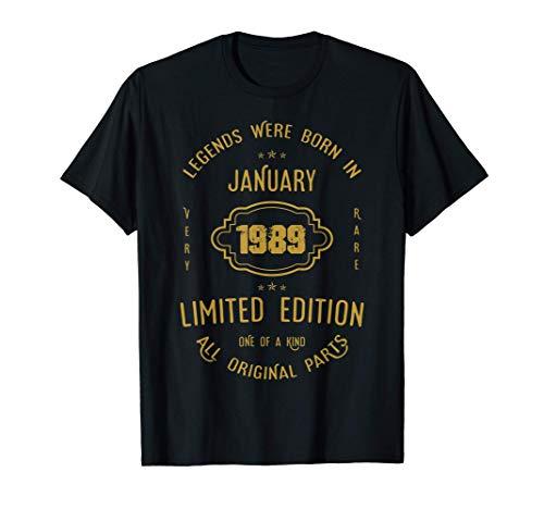 32 años de cumpleaños - Las leyendas nacen en enero de 1989 Camiseta