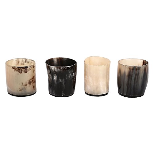 Kunsthandwerk Startseite Whisky Schnapsglas Tasse Whisky Dram Real Horn Glas Becher Vintage Set Gläser