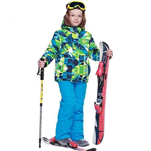 Kinderen Outdoor Warm Ski Suit-Wol Voeringen-Wind En Sneeuwstof-Voor Snowboarden