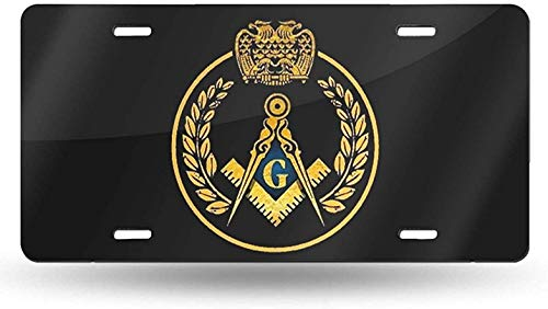 LAONIU Masonic Freemason Wreath Novelty License Plate Tag Sign Car Accessories