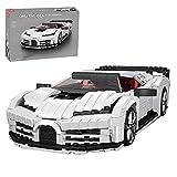 Super Bricks Technik Rennwagen Klemmbausteine Set, Mould King 10004 Sportwagen Bausatz für Bugatti Centodieci, Modellbausatz Kompatibel mit Lego Technik - 1116 Teile