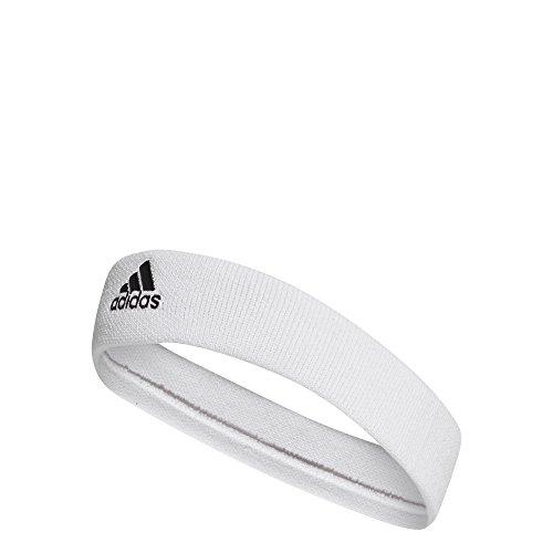 adidas Unisex Tennis Headband, White/Black, One Size