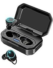 【最新Bluetooth5.0+EDR搭載 超大容量充電ケース IPX7防水】Sekuret bluetooth イヤホン 120時間連続駆