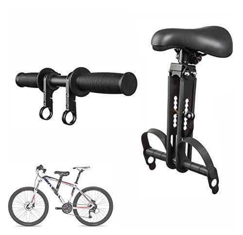 Seggiolino per bambini per mountain bike - Sedili per biciclette anteriore per bambini 2-5 anni - Accessori per biciclette Manubrio sedile - Compatibile con tutti gli adulti MTB - Facile da installare