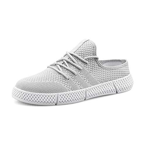 Zapatos de Cuero, Zapatos Casuales, adecuados para Calzado Deportivo para Hombres, Zapatos de Deportes de Moda Casual y Cordones Transpirables, Tejido de Malla de Punto Ligero liviano