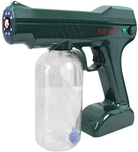 Qiutianchen Desinfektionssprüher, Blaue Lichtdesinfektionssprühpistole mit Volumenkolben, geeignet für den Haushaltswagen