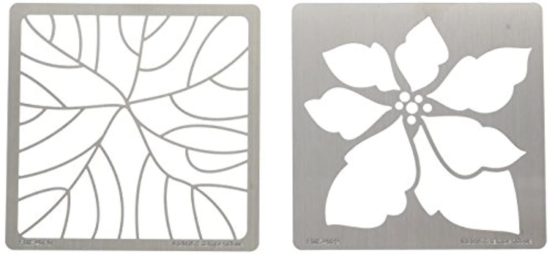 Stampendous FMSD109 Stencil Set, Poinsettia Duo