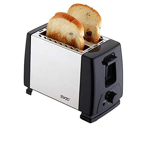 2-Scheiben-Toaster mit extra breitem Schlitz, Funktionen zum Auftauen / Aufwärmen / Abbrechen, 6 Einstellungen für den Brotschatten, herausnehmbare Krümelschale, kompakter Toaster für Bagels, Waffeln