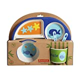 LUCYPAPASHOW Juego De Vajilla Para Niños - Plato De Platos De Bebé De Cinco Piezas De Bamboo FiberCartoon Rice Bowl worth buying