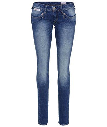 Herrlicher Damen Piper Denim Powerstretch Slim Jeans, Blau (Bliss 634), W25/L32 (Herstellergröße: 25)