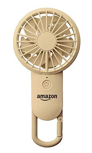 リズム時計工業(Rhythm) 携帯扇風機 アマゾンカラー 【改良】 USBファン 充電式 カラビナ 小型 強力 DCブラシレス 9ZF028BZ06 amazonオリジナル 17.7x8.5x3.5cm