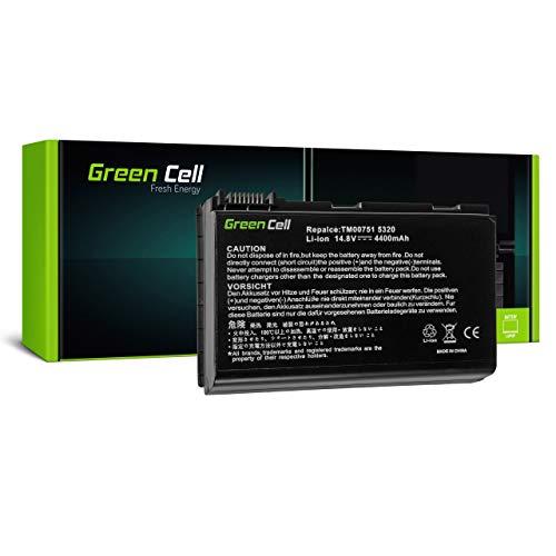 Green Cell Battery for Acer Extensa 5000 5100 5120 5120-7420 5130 5210 5210WLMI 5220 5220-050508 5220-050512MI 5220-051G08MI 5220-100508 5220-100508MI Laptop (4400mAh 14.8V Black)