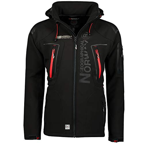 Geographical Norway TECHNO MEN - Chaqueta Softshell Impermeable Para Hombres - Capucha...