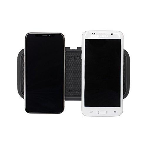 ZENS KNOMO X Qi-Certified Dual Wireless Fast Charging Pad 2x10W, soporta Carga rápida inalámbrica de hasta 10W - Funciona con Todos los teléfonos de Carga inalámbricos