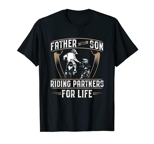 Moto Papà Figlio Motociclista Idea Regalo Moto Motociclismo Maglietta