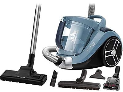Rowenta Compact Power XXL RO4871 aspiradora sin bolsa de 2,5 L, diseño compacto, motor EffiTech, depósito de suciedad de 2,5 L, tecnología ciclónica, cabezal de alta eficiencia, cable de 6,2 m